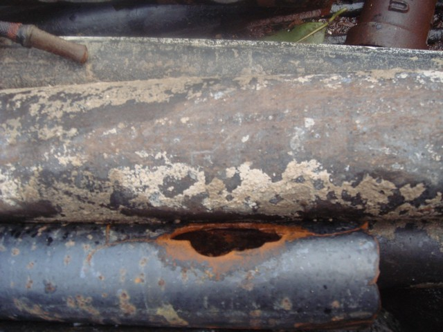 These pipes are from a property in Glendale