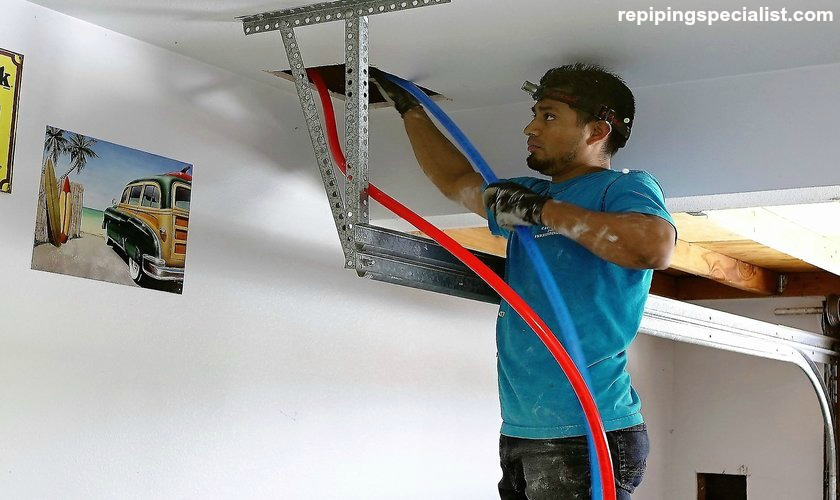 PEX pipes installation